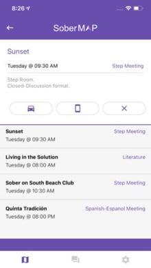Image of SoberMap App